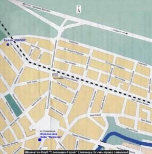 Карта на град Сливница